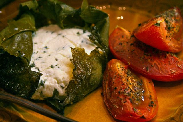 baked goat cheese and roasted tomatoes
