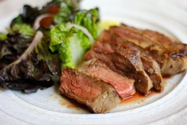 pan roasted rib-eye steak | crunchtime
