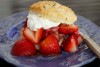 almost healthy strawberry shortcake