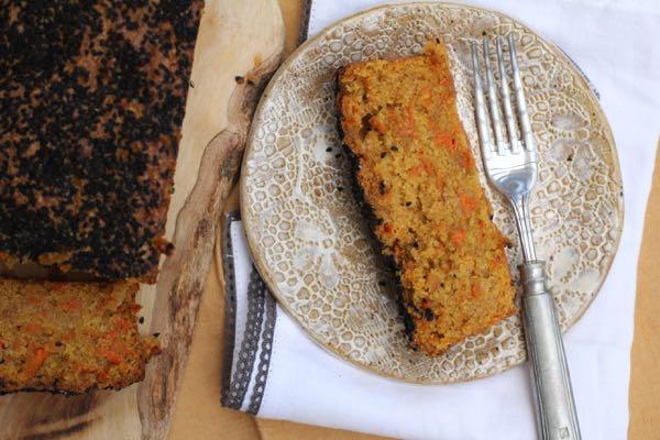 sesame crusted carrot cake