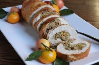 stuffed turkey roll